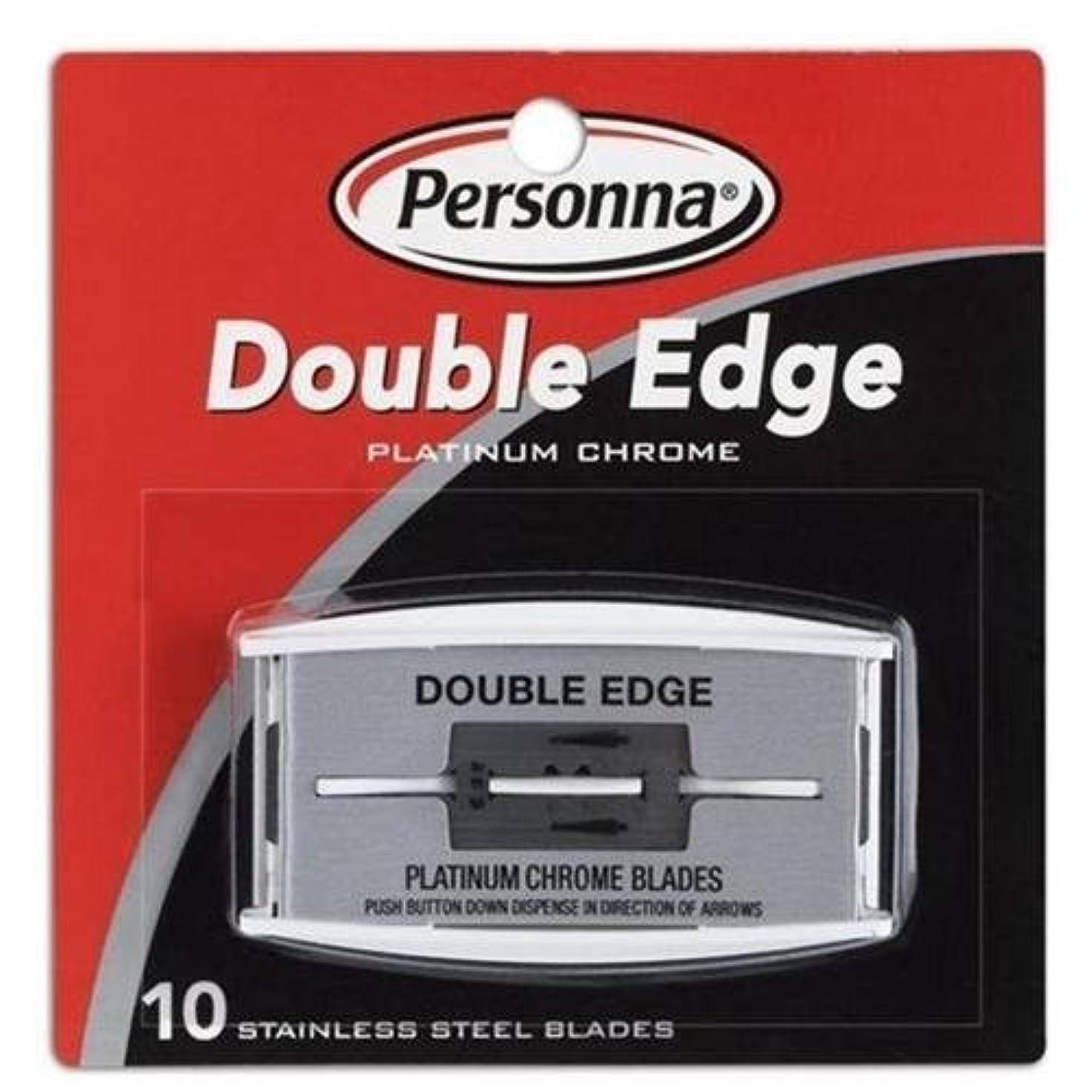 Personna (ペルソナ) ステンレス 両刃替刃 10枚 [並行輸入品]