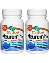 【2本セット】【海外直送品】Nature's Way - EFAGold, Neuromins, High Potency DHA - 60???????
