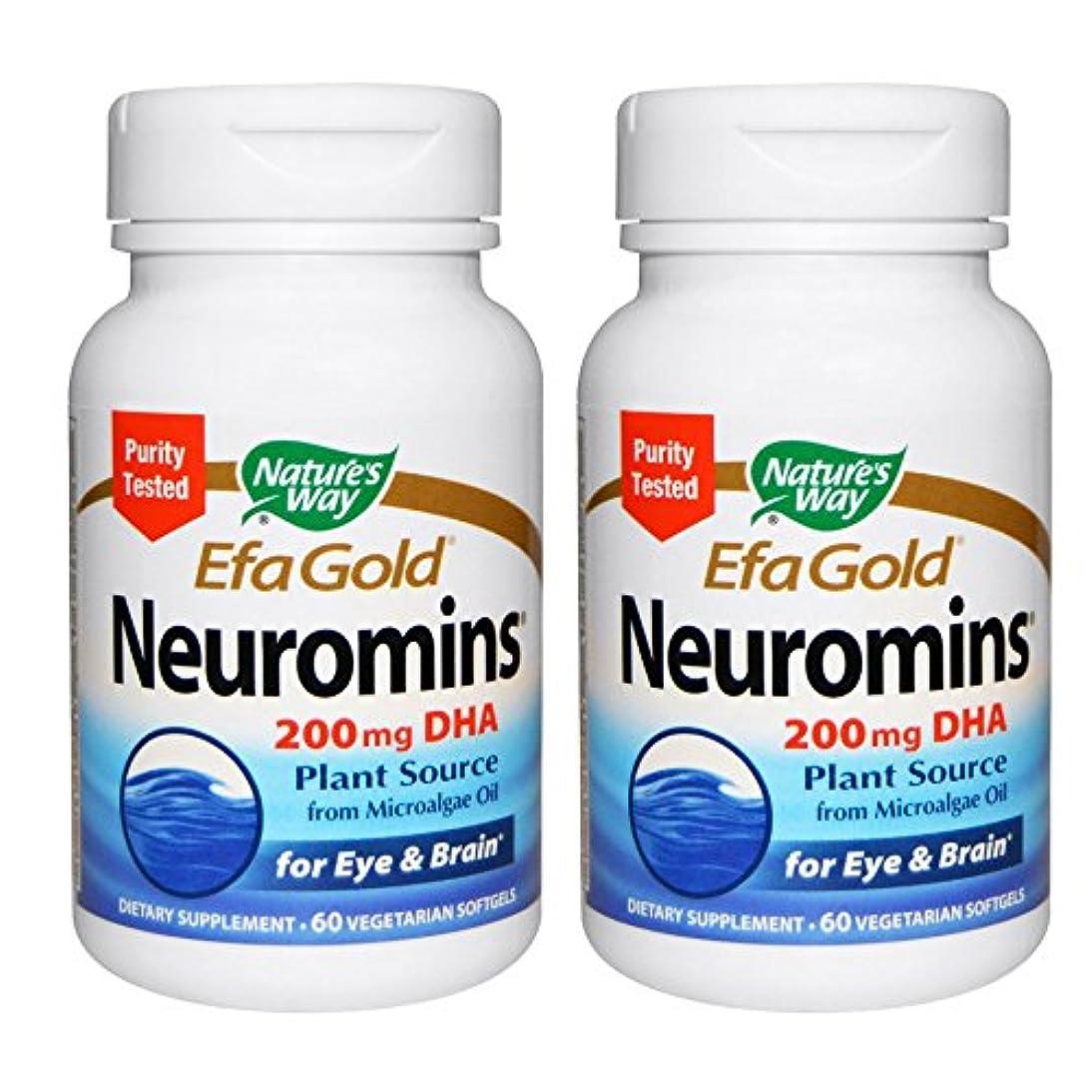 手段はねかける中止します【2本セット】【海外直送品】Nature's Way - EFAGold, Neuromins, High Potency DHA - 60???????