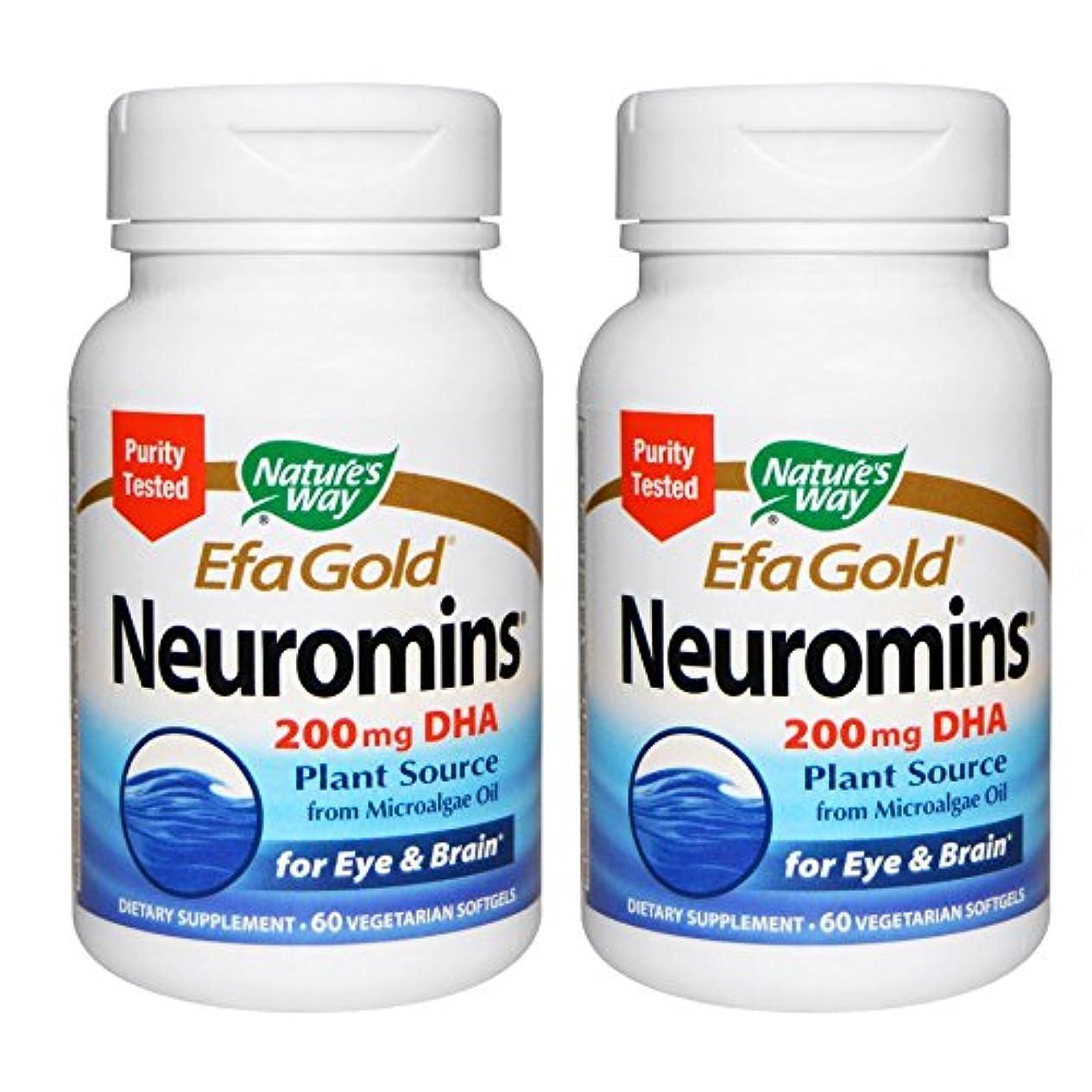 サークルにぎやかバランスのとれた【2本セット】【海外直送品】Nature's Way - EFAGold, Neuromins, High Potency DHA - 60???????