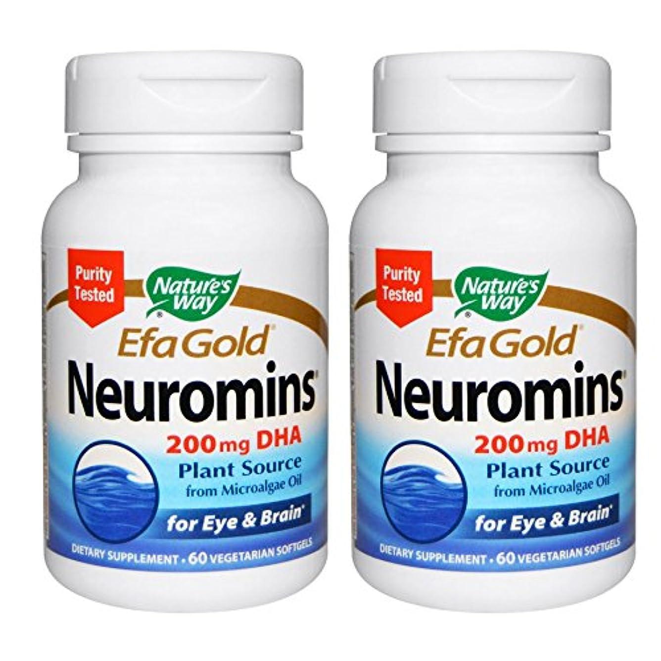 レスリング気付くコミット【2本セット】【海外直送品】Nature's Way - EFAGold, Neuromins, High Potency DHA - 60???????