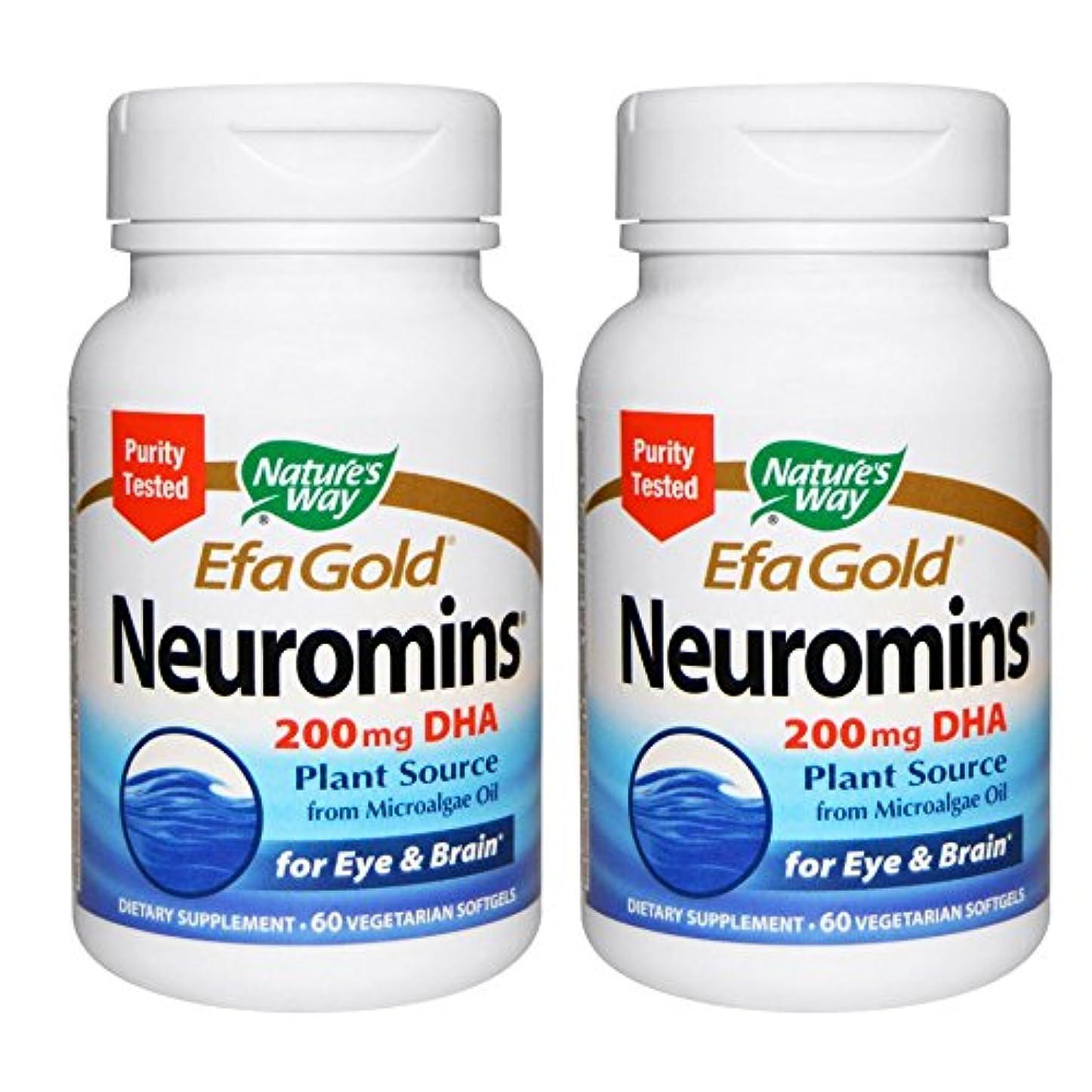 永遠にのり戦闘【2本セット】【海外直送品】Nature's Way - EFAGold, Neuromins, High Potency DHA - 60???????