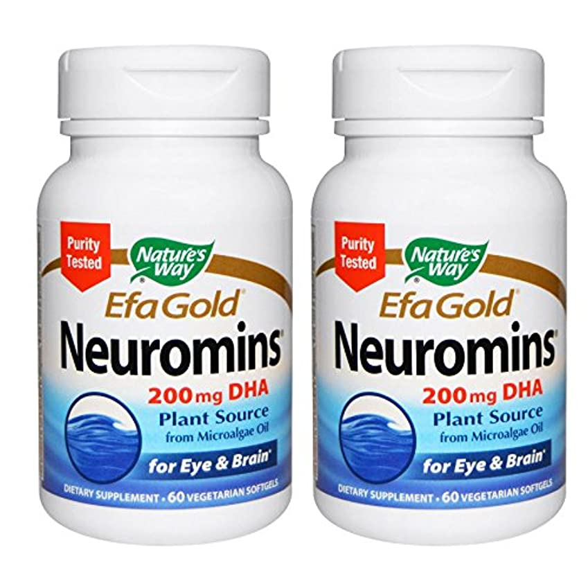 運動する強大な資産【2本セット】【海外直送品】Nature's Way - EFAGold, Neuromins, High Potency DHA - 60???????