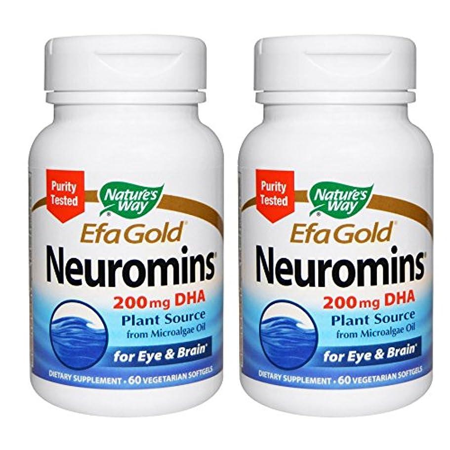 気づくなる不要裏切り【2本セット】【海外直送品】Nature's Way - EFAGold, Neuromins, High Potency DHA - 60???????
