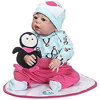 シミュレーションNPK 23インチ57 cmフルソフトSiliconeビニールRebornベビー人形Realistic新生児赤ちゃん人形ハンドメイドおもちゃ