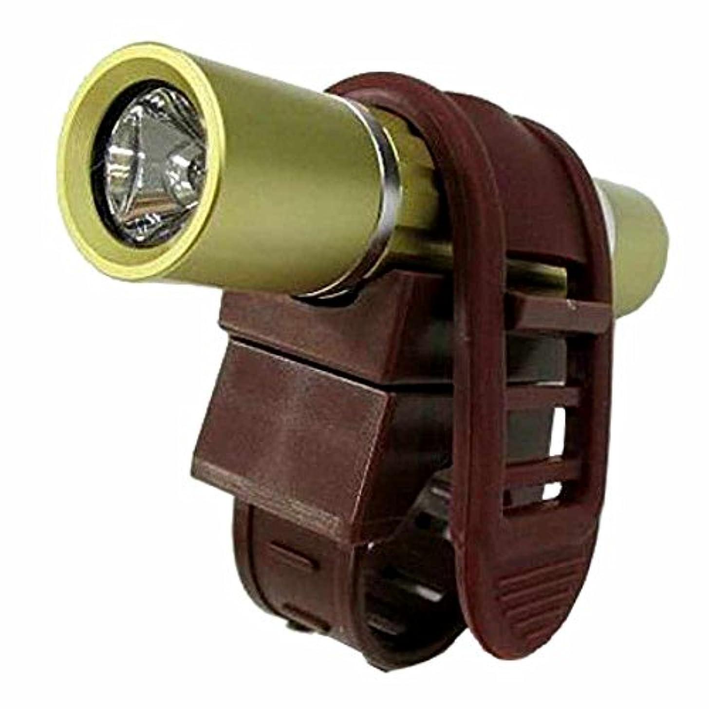 不名誉な判読できない手首ヤザワ 1灯白色LEDアルミバイクライトゴールド LB108GD
