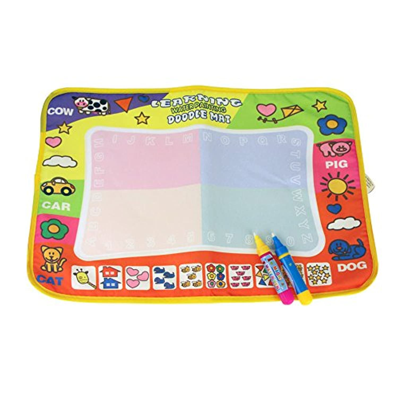 学習Aqua Painting Doodleマット、malltopカラフル子供図面おもちゃマットマジックペン教育おもちゃ11.4 X 7.5