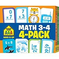 Math 3-4 (Flash Card 4-pk)