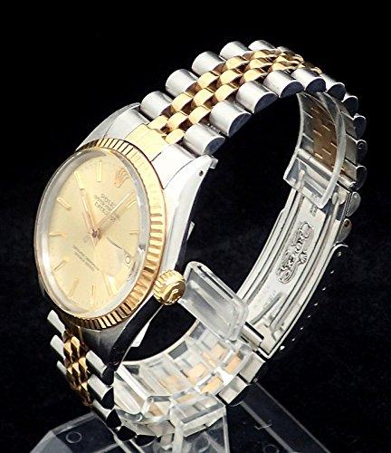 [ロレックス] ROLEX デイトジャスト ゴールド文字盤 デイト SS/YG 9番 メンズ 腕時計 16013 [中古]
