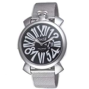 [ガガミラノ]GaGa MILANO 腕時計 スリム46mm ブラック文字盤 5080.2 メンズ 【並行輸入品】