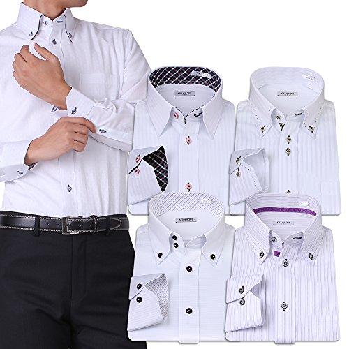 (アトリエサンロクゴ) atelier365 ワイシャツ 選べる6種類 5枚セット長袖 /at101-M-39-82-AT101-Hset