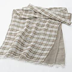 Linen Rayon Cotton Scarf 1351274: Moss