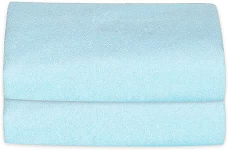 kerätä 防水 おねしょシーツ ダブル 150×200cm ふわふわ生地で朝まで快適 2枚セット 選べる3色 (ブルー)