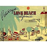 Postcard Picturesque Long Beach California Beach Canvas Print