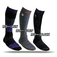 ディーラックス サーモソックス 17-18 (THERMO SOCKS) スノーボード 靴下 (S)22cm-24cm) (BLACK)ノーマルタイプ)