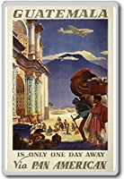 Guatemala Is Only One Day Away via Pan American - Vintage Aviation fridge magnet - ?????????