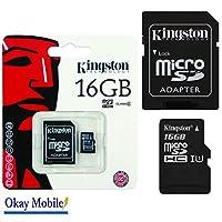 オリジナルKingston microSDメモリカードSamsung Galaxy A3(6)用16 GB 2016 A310°F