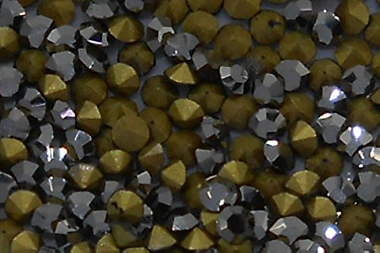 自明キャンセルキノコSHAREKI CHINA チャトン (Vカット) ラインストーン ライトブラック  SS4 (PP9) 約1g (約360個) 入り