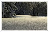 手つかずの雪のティンサイン 金属看板 ポスター / Tin Sign Metal Poster of Untouched Snow