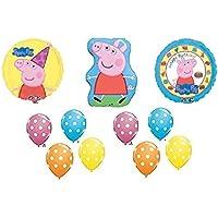 11pc。Peppa Pig Happy Birthdayバルーンセットブーケ