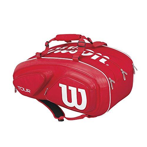 Wilson(ウイルソン) テニス ラケットバッグ 錦織圭使用モデル ツアー・V・15パック レッド (ラケット15本収納) WRZ867615