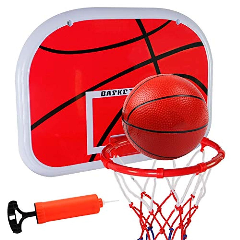 たまにフットボール解釈バスケットボールフープ子供の屋内屋外のミニバスケットボールフープのおもちゃホームベッドルームOfficeの子ども大人用のボールとポンプスポーツゲームでセットをプレイ