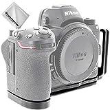 ブラック 金属製 L型クイックリリースプレートブラケット ハンドグリップ ニコン Nikon Z7 Z6 用 Arca-Swiss標準に対応 LLX-Nikon Z7-Z01