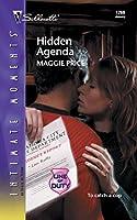 Hidden Agenda (Silhouette Intimate Moments)