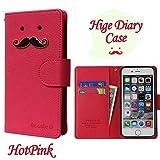 【ROCOCO】[Apple iPhone5s iPhone SE アップル iphone5s i-phone5s アイフォン5s アイホン5s アイフォン5 アイホンSE 共用 Diary Case] IPHONE5 手帳型 ケース IPHONE5 カバー 手帳 IPHONE5 レザーケース IPHONE5 スマホケース IPHONE5 ダイアリーケース IPHONE5s ケース 手帳型 IPHONE5s カバー手帳 IPHONE5s レザー ケース IPHONE5s スマホケース IPHONE5s ダイアリー ケース アイホン5s ケース 手帳型 アイフォン5s カバー 手帳 アイホン5 ケース 手帳 アイフォン5 カバー 手帳型 アイフォン アイホン 人気 かわいい おすすめ 丈夫 収納 カード入れ Diary キャラクター 携帯シンプル 手帳ケース アップル アイフォン いpほね5s 手帳型 ケース おしゃれ ブランド レディース Color キャラクター ヒゲ 人気デザイン ヒゲ かわいい ヒゲ キャラクター icカード入れ ★HotPink★