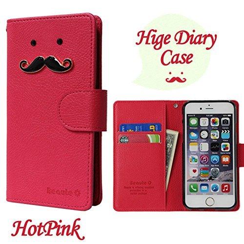 ROCOCO[AQUOS EVER SH-02J SH02J アクオス エバーSH-02J SIMフリー SH-M04 SH-M04-A UQ mobile AQUOS L AQUOS U SHV37 共用 Diary Case] 全機種ケース対応 ケース 手帳型 カバー 手帳 ダイアリー 収納 カードいれ シンプル Xperia Iphone Galaxy Optimus Aquos Arrows Regza らくらく MEDIAS ELUGA DisneyMobile isai Kyocera Digno HTC Huawei Google Ymobile Fujitsu Apple Asus スマートフォンケース機種対応 手帳ケース 人気 かわいい おすすめ 丈夫 収納 カード入れ Diary キャラクター 携帯 シンプル 無地 カラープール Color キャラクター ひげ 人気デザイン ひげ かわいい ひげ キャラクター HotPink