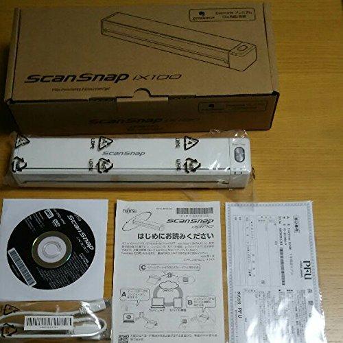 富士通(PFU) モバイルスキャナ 2年保証モデル(ホワイト)ScanSnap FI-IX100W-P