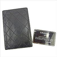 [シャネル] CHANEL 二つ折り札入れ レディース メンズ 可 ダブルステッチ 中古 Y6180