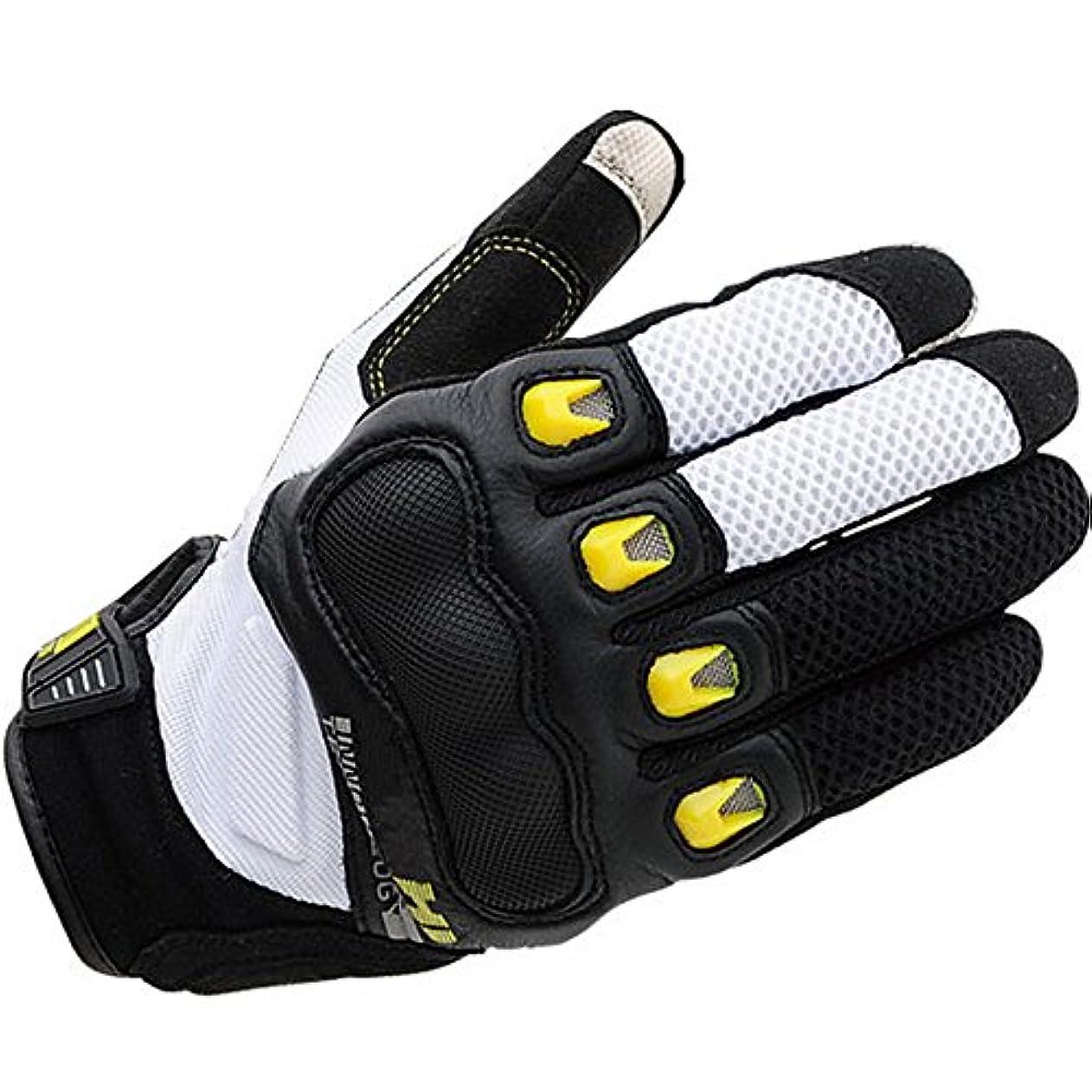 スイス人アミューズ先にタッチスクリーン保護オートバイの手袋サイクリングマウンテンバイク男性の女性の手袋 (色 : 白, サイズ : L)