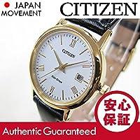 CITIZEN (シチズン) EW1582-03A EcoDrive/エコドライブ ソーラー ホワイト×ゴールド レザーベルト レディースウォッチ 腕時計 [並行輸入品]