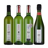 日本ワインセット 白ワイン スパークリング 金賞ワイン 日本 甲州 750mlx3本 720mlx1本