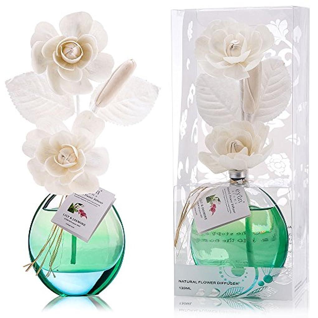 オール強風ロッド誕生日 プレゼント に A03 ルームフレグランス (花瓶:水色, 香り:ユリ & ジャスミン)