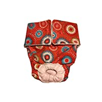 犬用オムツ・MADE IN USA・洗えるカバー・おしっこ耐水性のオムツ、犬の尿失禁、発情期用