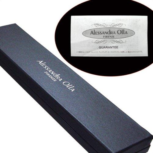 ALESSANDRA OLLA FIRENZE (アレサンドラオーラ) 本革カーフベルトウォッチ ホワイト AO-4500-WH