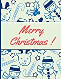 Merry Christmas: Journal|Notebook|Diary - Perfect for Gift (Lined 03 Version, 8.5 x 11, 100 pages)