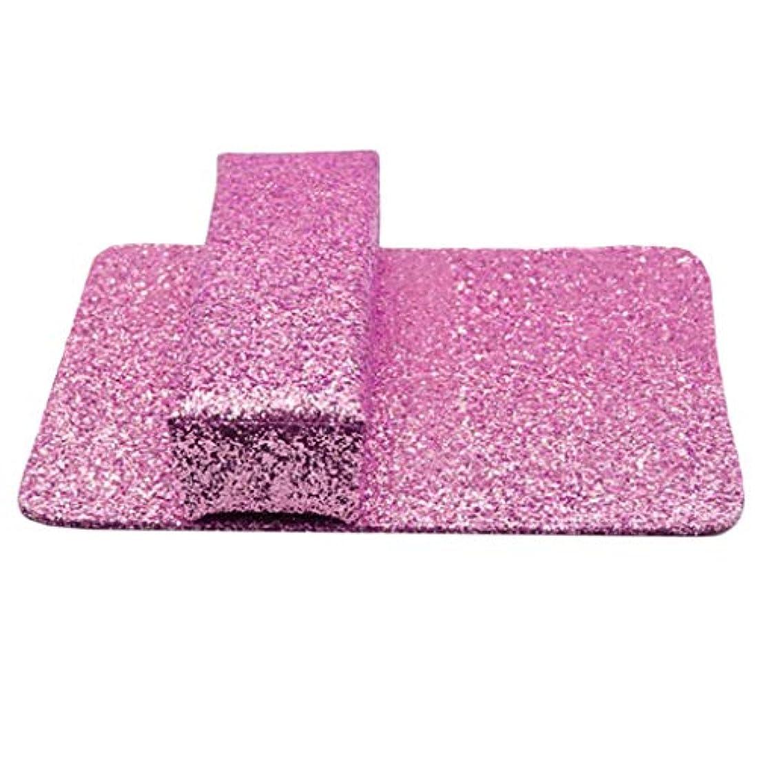 甘美な眠っているドラムDYNWAVE 腕置き クッション マッサージ用クッション ハンドピロー ネイル 美容室 自宅 使用可能 全3カラー - ピンク