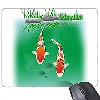 カップルの伝統中国の魚 長方形のノンスリップゴムパッドのゲームマウスパッドプレゼント