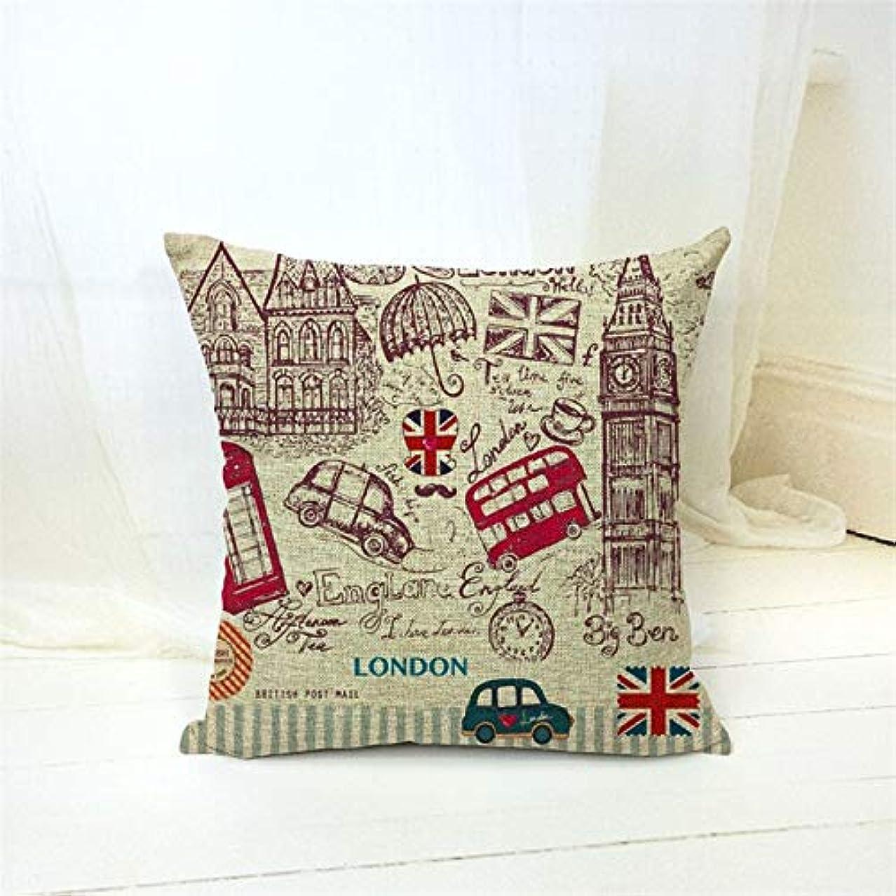 のり前者指標LIFE 新リネンプリントクッションホームソファカー装飾枕装飾枕 クッション 椅子