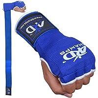 ARDフォーム入りInner Gloves With Wrapsタイ式ボクシング格闘技ブルーS - XL