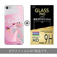 iPhone7plus ケース + 液晶保護ガラスフィルム 【 Type4 】 iPhone 7 plus/アイフォン/アイフォン7 +/アイフォーン/アイホン/スマートフォンケース/スマホカバー/スマホケース/ピンクパンサー/キャラクター/Pink Panther/クリアケース