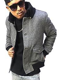 (ブラックホース) BlackHorse スタジャン メンズ ドンキー襟 ジャケット ウールメルトン 大きいサイズ b系 ストリート系