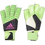 adidas(アディダス) サッカー用 キーパーグラブ ACE ゾーン フィンガーセーブ オールラウンド ソーラーグリーン×コアブラック×ショックピンクS16×ホワイト KAO89 ソーラーグリーン×コアブラック×ショックピンクS16×ホワイト