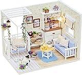 猫好きにオススメ 福美康(FUMEIKANG) ミニチュア ドールハウス ラブリー 子猫日記 仔猫 猫 のいる家 部屋 ホワイト ルーム 空間 演出 素敵な かわいい組立 キット ハンドメイド DIY HBK-737