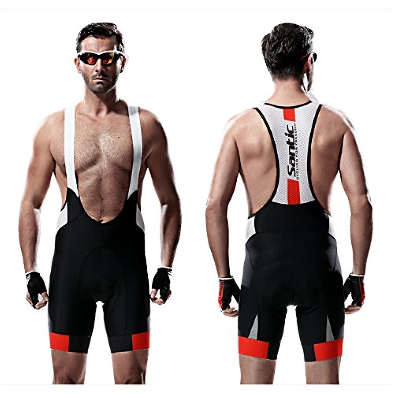 もし思春期の放課後SANTIC(サンティック)ビブショーツ メンズ ビブパンツ 自転車 3Dパッド付き 吸汗速乾 ジェル 痛み軽減 SUTOⅡ
