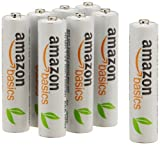 Amazonベーシック 充電式ニッケル水素電池 単4形8個パック (最小容量750mAh、約1000回使用可能)