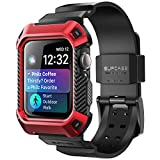 SUPCASE Rugged Protective Case for Apple Watch 4 / Watch 5 [44mm], with Strap Bands for Apple Watch Series 4 2018 / Series 5 2019 [Unicorn Beetle Pro] (Red)
